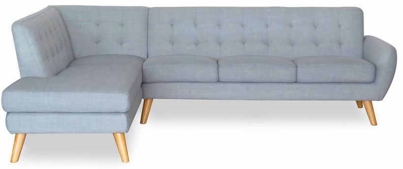 retro modern furniture. Item: Lydia Retro Corner Sofa Price: $1250. Complete Size: 270 X 204 81cm-High Available Left Or Right Side Facing Chaise Colours: Dark Grey, Light Modern Furniture